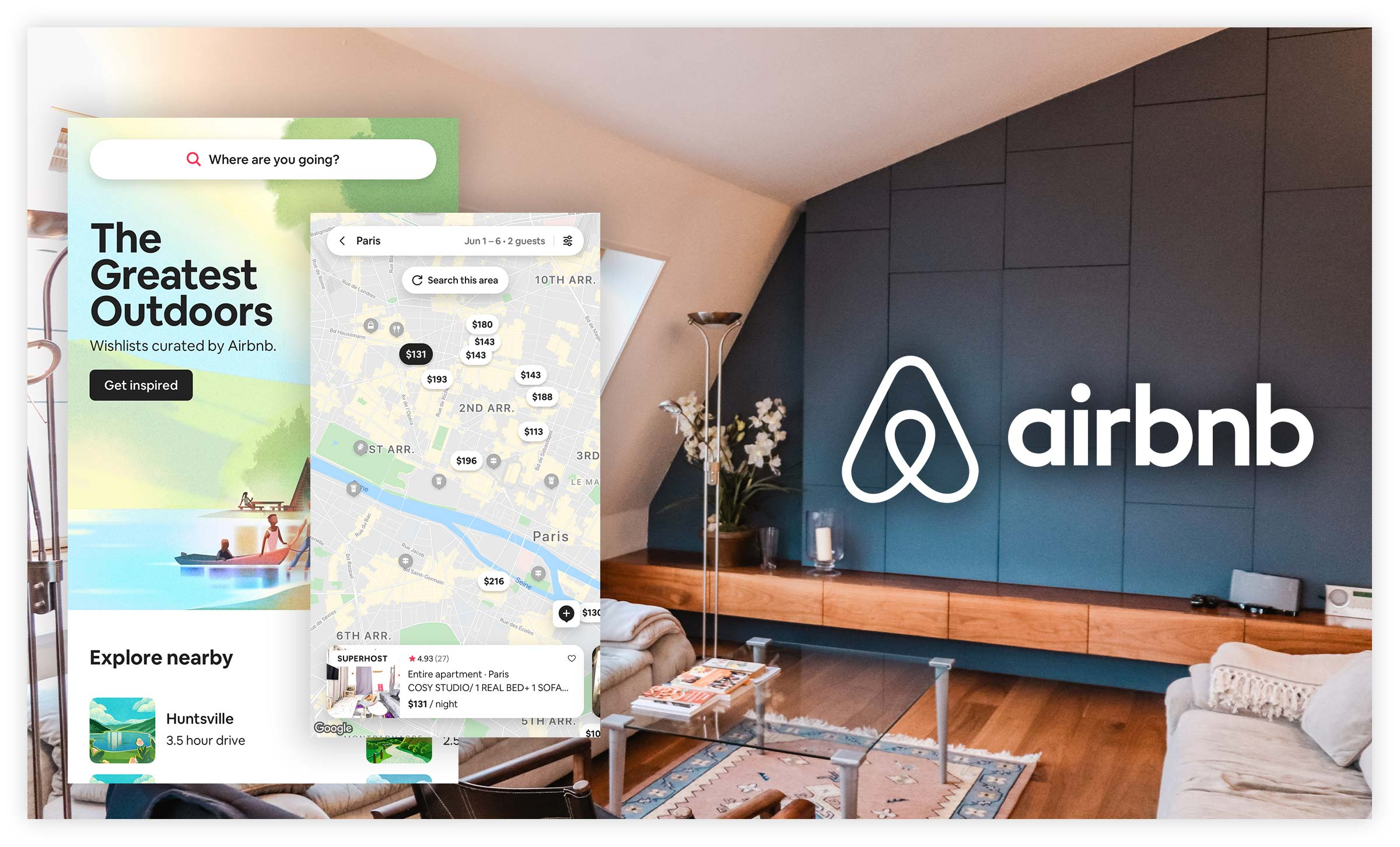 AirBnB used design thinking to disrupt the traditional renting experience.
