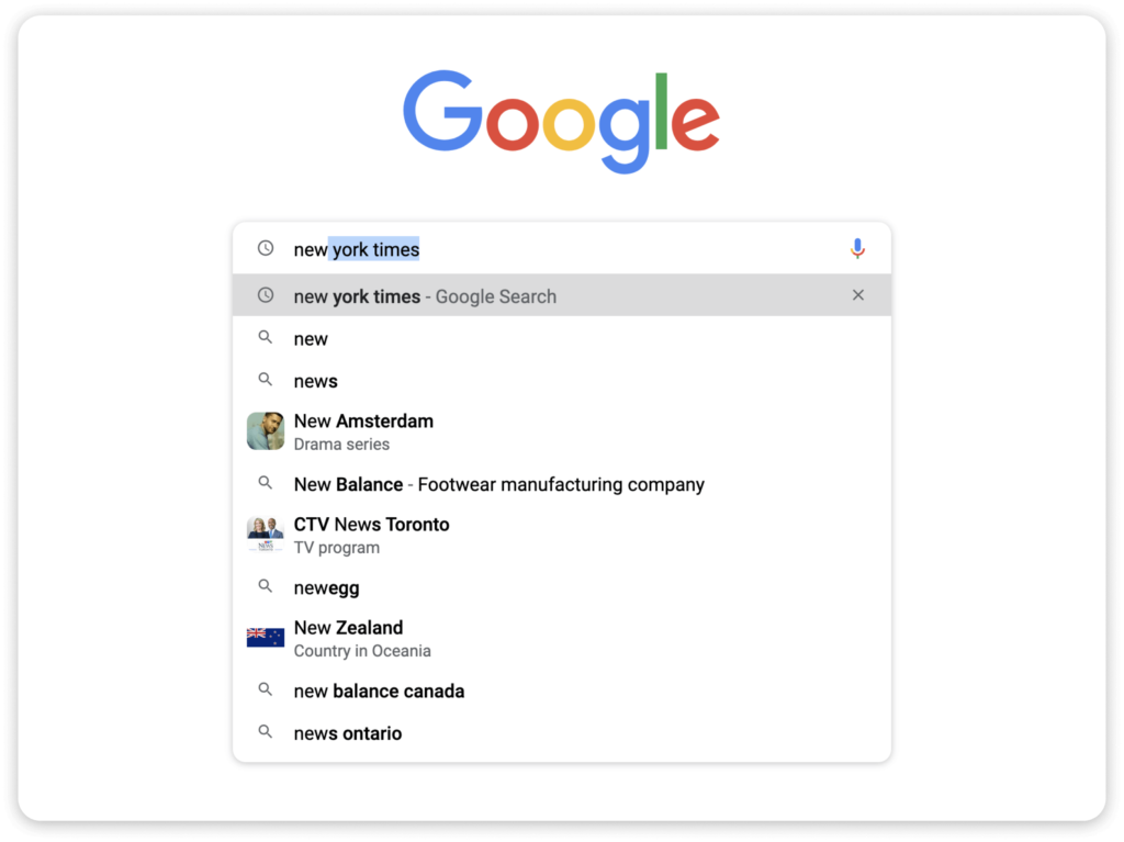 The modern browser search bar is an excellent example of UX design.