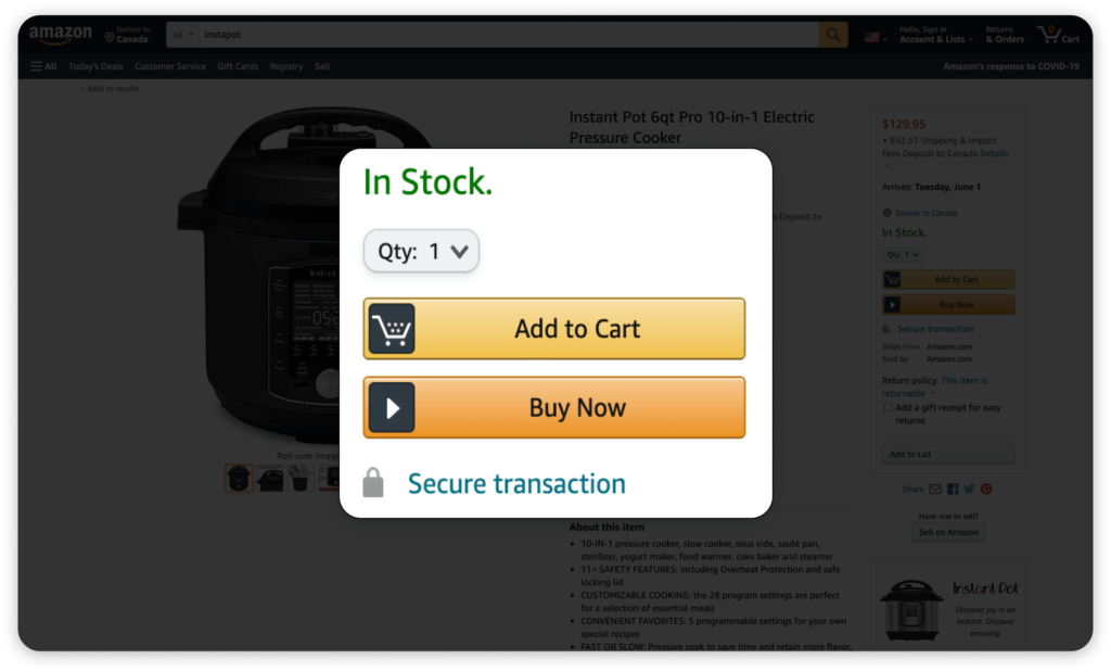 Amazon is the kind of customer experience design, and their Buy Now button played a significant role in their dominance.